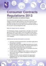 Consumer Contracts Regulations >> Consumer Contracts Regulations 2013 Factsheet Consumer Council