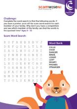 Scam word search